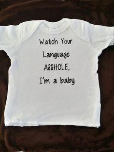 Watch Your Language cute baby shirt funny shirt by smhSMILES, $9.99