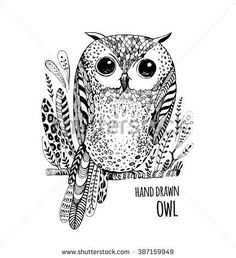 http://thumb7.shutterstock.com/display_pic_with_logo/1296649/387159949/stock-vector-hand-drawn-black-white-illustration-owl-fly-bird-art-coloring-book-cute-sitting-sketch-with-387159949.jpg