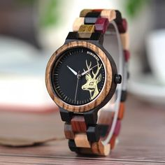 Cool Watches: Discount Up to BOBO BIRD Quartz Watch Men reloj mujer Elk Engraving Wooden Women Watches in Wood Box relogio masculino Great Gift for Lover Stylish Watches, Casual Watches, Cool Watches, Watches For Men, Luxury Watches, Wood Gift Box, Wood Gifts, Couple Watch, Watches