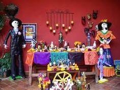 Altares del Día de Muertos en México con el Catrin y la Catrina