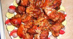 Barna sörben pácolt sült csülök recept Tandoori Chicken, Chicken Wings, Shrimp, Meat, Cooking, Ethnic Recipes, Food, Kitchen, Essen