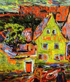 bofransson:  Green House Ernst Ludwig Kirchner - 1907