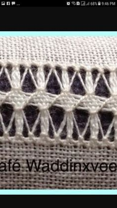Idalina Sanches Carmona's media content and analytics Embroidery Needles, Hand Embroidery Stitches, Knitting Stitches, Embroidery Designs, Hardanger Embroidery, White Embroidery, Drawn Thread, Patchwork Bags, Embroidery For Beginners