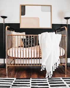ideas baby cribs modern nursery design for 2019 Baby Nursery Diy, Baby Bedroom, Baby Boy Rooms, Baby Room Decor, Nursery Ideas, Black Crib Nursery, Diy Baby, Budget Nursery, Baby Girls