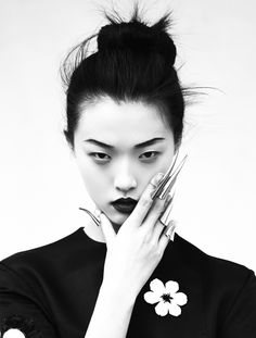 """""""Memoirs of a Geisha"""" - Tian Yi photographed by Oliver Stalmans for Elle…"""