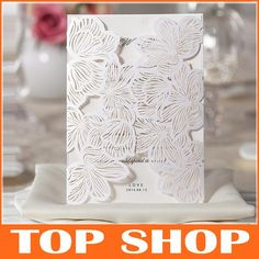 Wholesale Wedding Invitation Cards - Buy 2014 NEW Lace Hollow White Wedding Invitations Vertical Section Blank Inner Sheets Cards 130*180mm Wedding Supplies Invitation HQ1026, $1.47 | DHgate.com