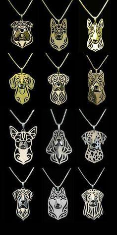 Womens Handmade Dog Necklace Over 25 Dog Breeds...50% Off