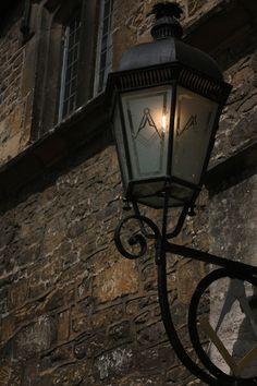 light with Masonic symbol glass light cover