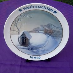1929-Rosenthal-Weihnachten-plate-Xmas-Annual-Christmas-in-the-Alps-50-Years Christmas Plates, Alps, Tableware, Ebay, Decor, Christmas, Dinnerware, Decoration, Tablewares