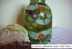 Muratura - vegyes savanyúság sós vízben A 17, Fresh Rolls, Preserves, Watermelon, Cabbage, Fruit, Vegetables, Ethnic Recipes, Food