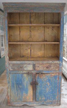 Blue Flatback Cupboard