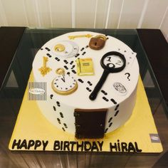 9th Birthday Cake, 70th Birthday Parties, Escape Room Themes, Today Is Your Birthday, Detective Party, Chocolate Milkshake, Fashion Cakes, Elegant Cakes, Cakes For Boys