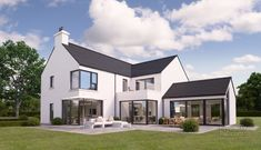 Houses - House Plans, Home Plan Designs, Floor Plans and Blueprints L Shaped House Plans, New House Plans, House Designs Ireland, House Ireland, Home Exterior Makeover, Two Storey House, Modern Farmhouse Exterior, Dream House Exterior, House Extensions