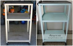 From: Being Home - Metal rolling cart makeover. I found it on Craigslist for $15.00.