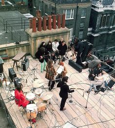 """The Beatles' rooftop concert, January 30, 1969...""""And I'd like to say thank you on behalf of the group and ourselves and  I hope we passed the audition."""" - John Lennon"""