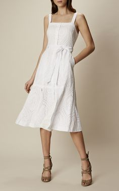 Karen Millen, BRODERIE SUMMER DRESS White - looove this eyelet dress!!