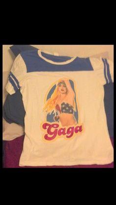 ***LADY GAGA*** Jersey Style T-SHIRT!!!!!