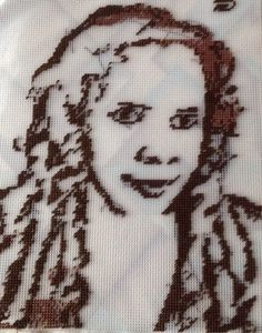 Cross Stitch picture of my Twin Sister Marcelle