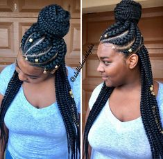# scalp Braids plaits Gorgeous braids via Black Girl Braids, Braids For Black Hair, Girls Braids, Braided Ponytail Black Hair, Braided Updo, Box Braids Hairstyles, African Hairstyles, Popular Hairstyles, Black Hairstyles