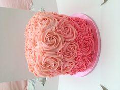 Layered Buttercream rose cake