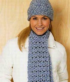 crochet pattern - cosmopolitan hat and scarf