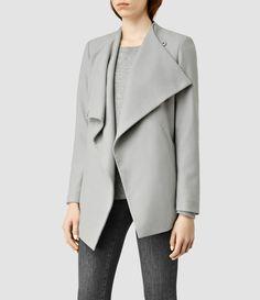 ALLSAINTS UK: Womens Ora Jacket (Ice Blue)