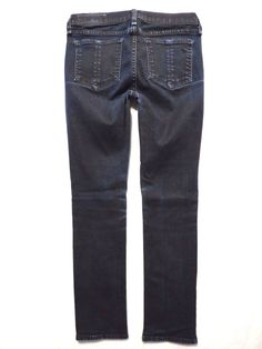 Rag and Bone size 26 The Capri skinny Dark blue coated black wash Womens jeans #ragbone #CapriCropped