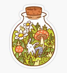 Bunny in a Bottle Sticker
