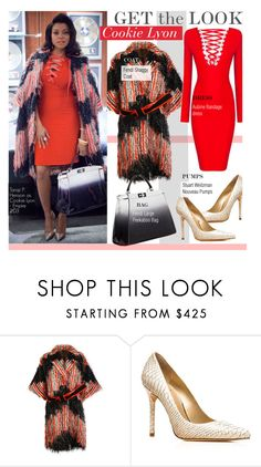 """""""Get The Look- Cookie Lyon(Taraji P. Henson )"""" by kusja ❤ liked on Polyvore featuring Fendi, Stuart Weitzman, women's clothing, women's fashion, women, female, woman, misses, juniors and GetTheLook"""