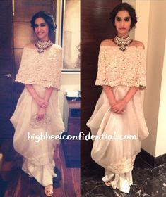 In Anamika Khanna Couture - High Heel Confidential Bollywood Fashion, Bollywood Saree, Bollywood Celebrities, Lehnga Dress, Desi Wear, Knitwear Fashion, Indian Couture, Western Dresses, India Fashion