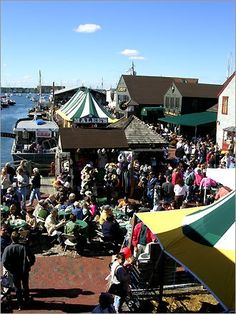 Bowen's Wharf Seafood Festival, held every October in Newport, RI.