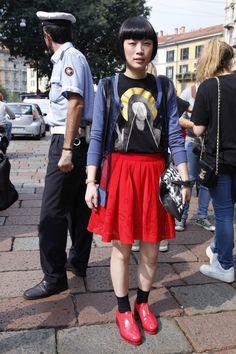 Street Style Milan Fashion Week primavera verano 2013    www.peluqueriapacomartin.com