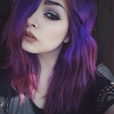 purple / galaxy waves | hair colors and styles