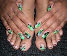 Green With Envy by uniqueblk1 - Nail Art Gallery nailartgallery.nailsmag.com by Nails Magazine www.nailsmag.com #nailart