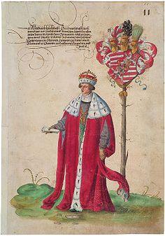 Szapolyai János. Erhard Schön (1491-1542) fametszete. A feltételezések szerint a metszet a király hiteles arcképét ábrázolja