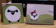 Punch Art Sheep for Lamb of God.  Make into a cute ornament to hang on the tree, with the Bible verse on the back.