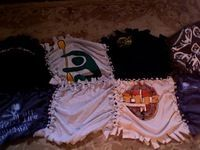 Make a no sew blanket from favorite old shirts