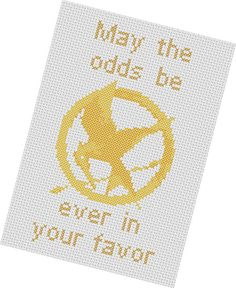 Mockingjay cross stitch pattern. OMFG. $3.50