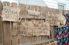 Cowboy Lingo Signs