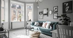 my scandinavian home: A calm grey Swedish space with a hint of blue