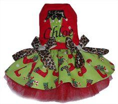 Personalized Stocking Dress