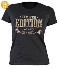 Damen T-Shirt Kurzarm, Girlieshirt, Funshirt, Damenshirt zum Geburtstag - Limited Edition seit 1987 Aged to Perfection (*Partner-Link)