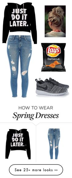 """Untitled #22"" by kaylaboo23 on Polyvore featuring moda, Frame Denim e NIKE"