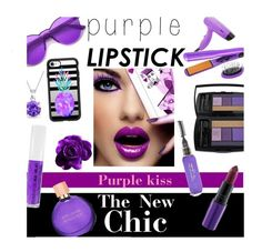"""""""purple kiss"""" by smillafrilla ❤ liked on Polyvore featuring beauty, MAC Cosmetics, Lancôme, CHI, Estée Lauder, Obsessive Compulsive Cosmetics, Casetify and Bling Jewelry"""