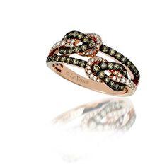 Le Vian chocolate and vanilla diamond rings.  Marshall Jewelry
