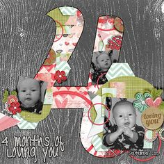 Made with upcoming Pixelily Designs kit All You Need Is Love  and Cornelia Designs Count on Me 4 template  http://store.gingerscraps.net/...ornelia-Designs.html