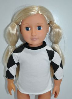 American Girl Doll Our Generation Journey Girl 18  Doll Clothes Base Ball top