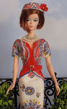 Dress and hat for Silkstone Barbie by HankieChic on Etsy now