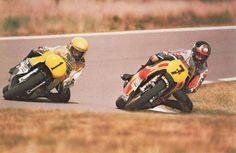 Kenny Roberts y Barry Sheene