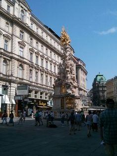 Columna de la peste viena Louvre, Street View, Building, Travel, Vienna, Columns, Viajes, Buildings, Destinations